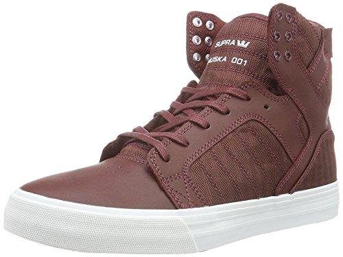 Supra Herren Skytop Hohe Sneakers, Rot (Burgundy-White 650), 42 EU Supra Schuhe Sneaker Herren Rot