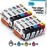 Smart Ink kompatible Tintenpatrone als Ersatz für HP 364 XL 364XL 10 Multipack (4BK & 2C/M/Y) Patrone hoher Kapazität für HP Photosmart 5510 5520 6510 C5380 Deskjet 3070A 3520 Officejet 4620 4622