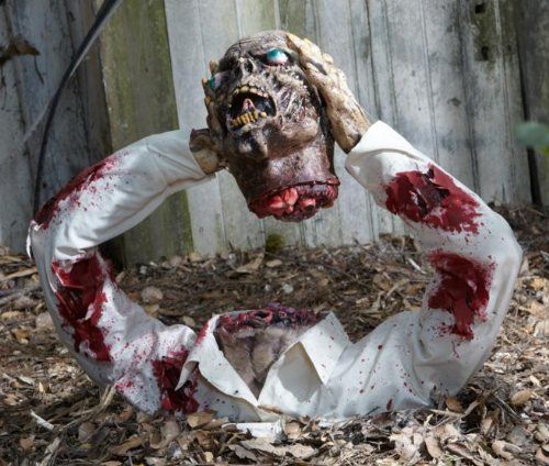Latex Headless Zombie Halloween Prop Decoration 20