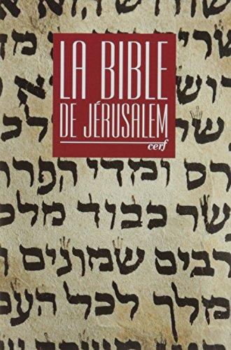 La Bible de Jérusalem : Etui poche, relié rouge