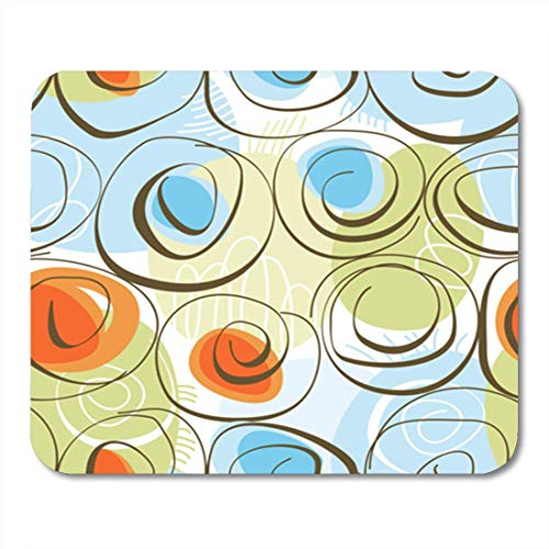 AOCCK Gaming Mauspads, Gaming Mouse Pad Flower Abstract Floral Background Seamless Whimsical Color Swirls Swirly Wallpaper 11.8