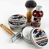 Timberwolf Shave and Wash Set | Sandalwood and Bergamot | Gift Set