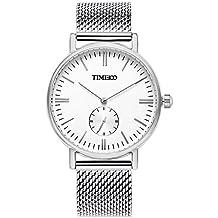 Time100 Orologio uomo acciaio con un cinturino in tela di omaggio, movimento al quarzo#W80188G.02A