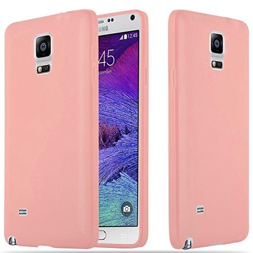 Samsung Galaxy Note 4 - Hülle in Candy ROSA - Handyhülle aus TPU Silikon im Candy Design - Silikonhülle Schutzhülle Ultra Slim Soft Back Cover Case Bumper ()