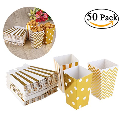 NUOLUX Popcorn Boxen Party Candy Container behandeln Kartons, 12 x 7.5 CM