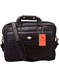 Laveri Laptop Briefcase Meesenger Bag In Genuine Leather 438