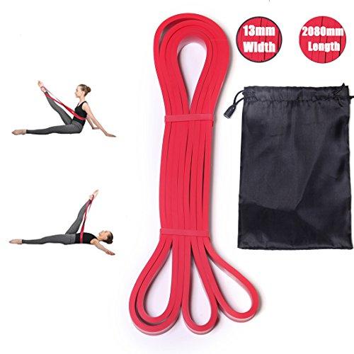 DoGeek FitnessBand Ballett Stretch-Band für volle Flexibilität (Rot)