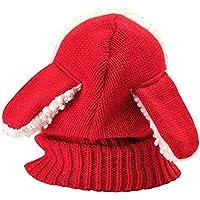 LFYPSM Sombrero De Bebé Otoño E Invierno Niños Y Niñas Gorro De Lana Niños 1 Año De Edad 4,Red