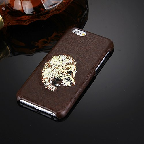 Phone case & Hülle Für iPhone 6 Plus / 6s Plus, Öl Haut Textur Stickerei Leopard Muster PU Paste Haut PC Schutzhülle ( SKU : IP6P7801C ) IP6P7801E