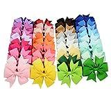 LAMEIDA Barettes Pince à Cheveux Papillon Noeud en épingle Accessoires de Coiffure pour Les Petites Fille Enfants 20PCS (A)