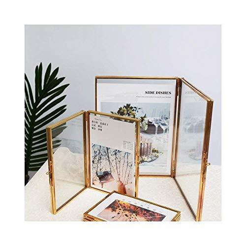 HYJ Foto-Rahmen-kreativer transparenter Retro Art-Kunstfoto-Rahmen des Glases (Farbe : 5x7inch15.7x21.2cm)