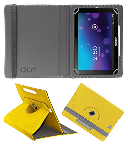 Acm Rotating 360° Leather Flip Case for Karbonn Smart Tab 7 Tornado Cover Stand Yellow  available at amazon for Rs.149