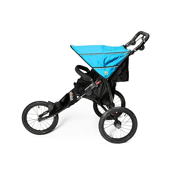 Out n About Nipper Sport Special Edition Marine Blue Out 'n' About A true all-terrain jogger, fixed 3-Wheel pushchair, suitable for use from Birth to 4 years (approx) Ideal for off-road conditions and to use whilst jogging Latest V4 Model has auto-lock fold, height adjustable handles & handle bar mounted brake lever 3