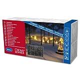 Konstsmide 2725-002 Eisregen Lichtervorhang / für Außen (IP44) /  24V Außentrafo / 200 klare Birnen / weißes Kabel