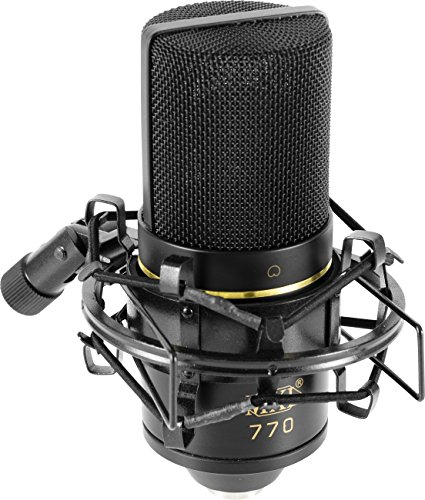 MXL 770 - Micrófono de condensador, color negro