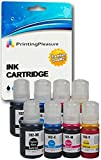 8 Tinten für Epson EcoTank ET-2700, ET-2750, ET-3700, ET-3750, ET-4750 | kompatibel zu Epson 102 C13T03R140 C13T03R240 C13T03R340 C13T03R440 | Tintenflaschen zum Nachfüllen