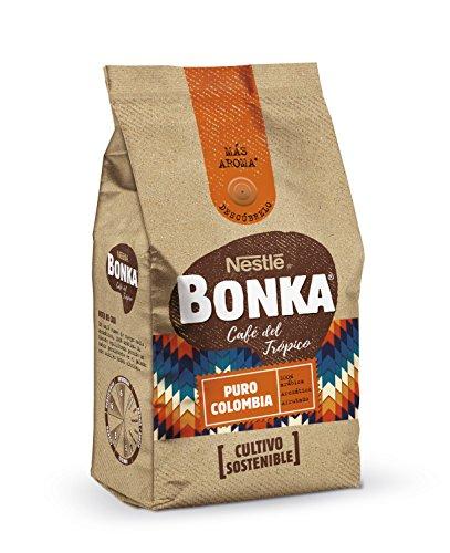 BONKA Café molido de tueste natural Puro Colombia y cultivo sostenible - Paquete de Café de 8 x 250 g- Total: 2 kg