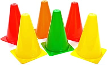 Roxan Multicolour Marker Cones (6 Inch) for Soccer Cricket Track and Field Sports… Pack of 24| Football Saucer Cone | Cone for Mark Particular Area