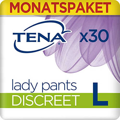 Tena Lady Pants Discreet Large, Monats-Paket mit 30 Pants (6 Packungen je 5 Einweghöschen)
