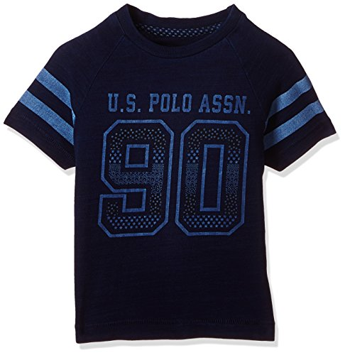 US Polo Boys' T-Shirt (UKTS6386_Dark Blue_24THS)