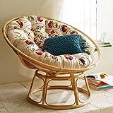 #6: A&E Cane Designer Comfortable Chair With Cushion