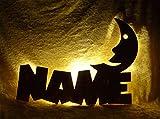 """Schlummerlicht24 Nachtlicht """"Mondi"""", Geschenk mit individuellem Namen, ideal als Geburts- oder Taufgeschenk für das Kinderzimmer, handgemacht"""