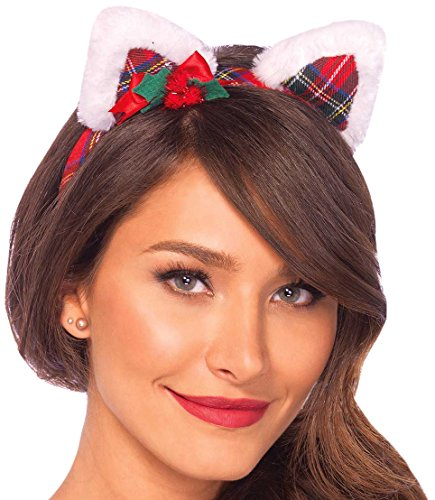 eihnachts-Kitty Haarband - Einheitsgröße, mehrfarbig (Weihnachts-märchen-kostüme)