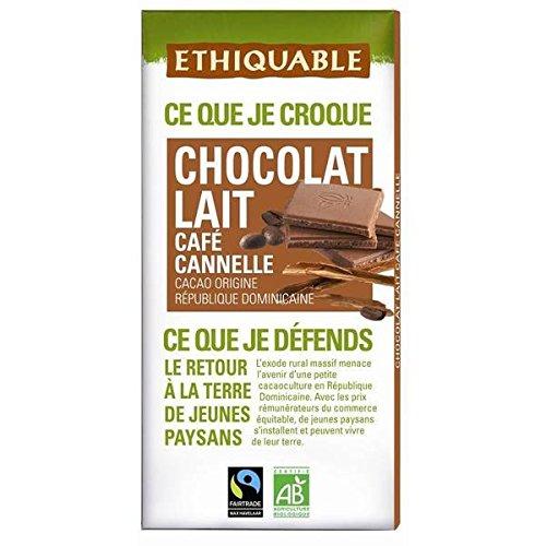 Ethiquable chocolat lait café cannelle 100g - ( Prix Unitaire ) - Envoi Rapide Et Soignée