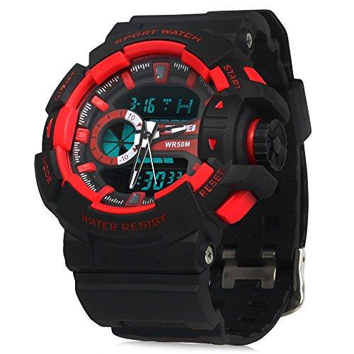 Skmei Analog-Digital Red Dial Men's Watch - 1117