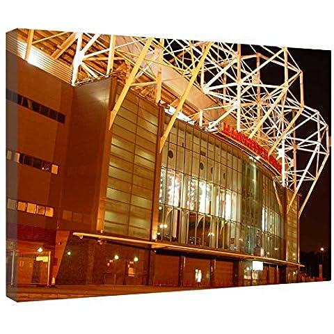 LeeQueen Las Impresiones Sobre Lona Arte de la Pared - Estadio de Old Trafford - Antecedentes Consejo de Madera Estirada Abrigo de la Lona Listo Para Colgar Para el Hogar y la Decoración de la Oficina - 24