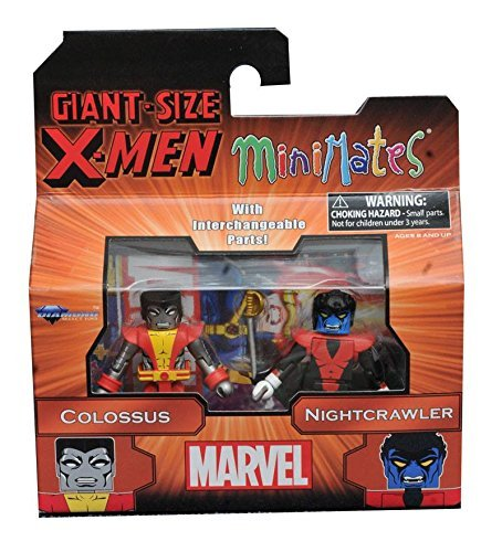 Marvel Giant-Size X-Men Colossus & Nightcrawler Minimates Action-Figurs 2 Pack (Giant X-men)