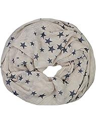 Mevina Schlauchschal mit Stern Stars Print Farbverlauf Baumwolle viele Farben Viskose Sterne Druck