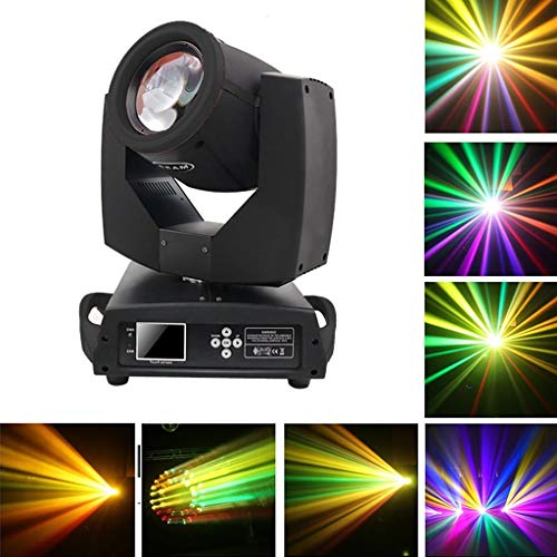 Party Lights, 24 Pattern Lens Move Beam Licht, 230W Spotlight, DMX + Touchscreen, Linear Dimming Disco Stage Dance Party Licht Crystal Ball Effekt, Fernbedienung für Home DJ Club Pool Pond -610 - Laser Lights Dj