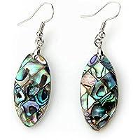 Mio.oo Abalone Paua Shell Long Dangle Earrings 1 pair