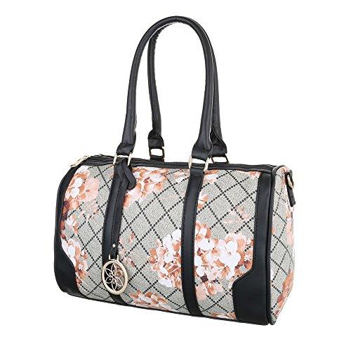 Damen Schultertasche Handtasche Tragetasche Shopper Schwarz Blau Grau Rot Weiß Grau