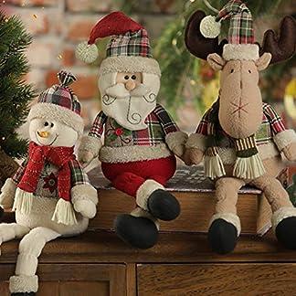 Handfly Decoración de muñecas de Navidad Muñeco de Nieve de Renos de Santa Muñeca para Navidad Decoración de Mesa Exhibición de Ventana Centro Comercial KTV Bar Decoración