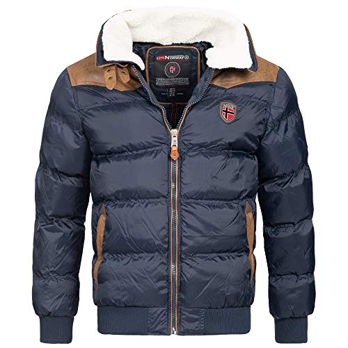 Geographical Norway Emei Herren Winterjacke Steppjacke Navy Gr. L
