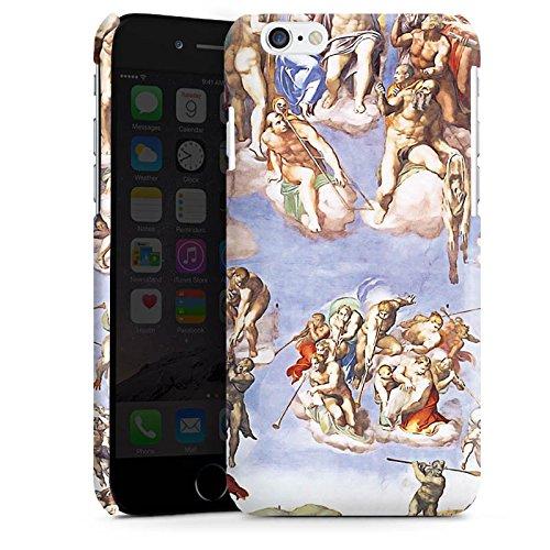 Apple iPhone 4 Housse Étui Silicone Coque Protection Michelangelo Buonarroti Le Jugement dernier Tableau Cas Premium brillant