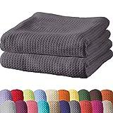 Erwin Müller Sommerdecke, Baumwolldecke - 2er-Pack - luftig-leicht, weiche Qualität, sehr angenehm - grau Größe 150x200 cm - weitere Farben und Größen - 100% Baumwolle