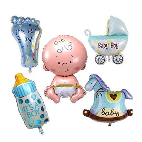 Folie Luftballons Baby Dusche Geburtstag Party Dekoration blau (Cute Baby-dusche-dekorationen)