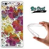 Becool® Fun - Funda Gel Flexible para Vodafone Smart Ultra 6 Carcasa TPU fabricada con la mejor Silicona, protege y se adapta a la perfección a tu Smartphone y con nuestro exclusivo diseño Gotas de pintura