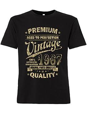 ShirtWorld - Aged to Perfection 1967 zum 50. Geburtstag - T-Shirt