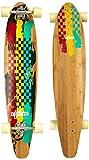 Nijdam Longboard Kicktail Bamboo II, Rot Gelb Grün, 42 zoll, 1019827