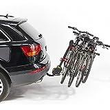 Mottez Porte-vélos sur attelage rabattable compact 4 vélos Gris