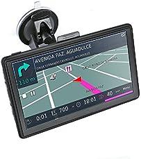 7 Pollici GPS Navigatore per Camion Sattelitare GPS con Mappe Precaricato Europa, Caricatore a Doppia USB, Aggiornamento Mappe Gratuito a Vita