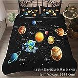 GAOXUE Bettwäsche-Set,3D Kinderbettwäscheset, Sternenjugend-Bettbezug und Kissenbezug-_F_140 * 210cm (2 pcs)