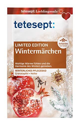 tetesept Badesalz Sinnensalze Wintermärchen Limited Edition - Meersalz Badezusatz - wohlige Wärme fühlen - Pflegebad aus hauchfeinen Puderkristallen, leicht löslich - 10er Pack (10 x 60 g)