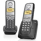 Gigaset A230 Duo - Teléfono inalámbrico DECT digital, color negro