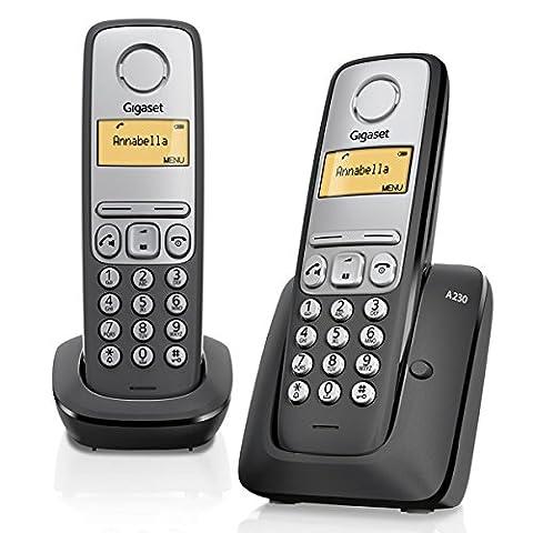 Gigaset A230 Téléphone sans fil Noir/Argent