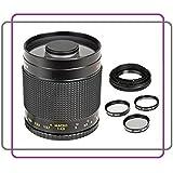Téléobjectif à miroir 500 mm 1: 8 Objectif Focus manuel pour Canon EOS 1D, 5D, 5DS R, 6D, 7D, 10D, 20D, 30D, 40D, 50D, 60D, 70D, 80D, 100D, 300D, 350D, 400D, 450D, 500D, 550D, 600D, 650D, 700D, 750D, 760D, 1000D, 1100D, 1200D, 1300D Appareil photo numérique Reflex